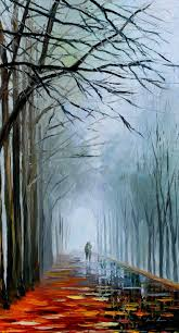 inexpensive wall decor dark oil painting on canvas by leonid afremov foggy path size 20 x 36 inches 50 cm x 90 cm