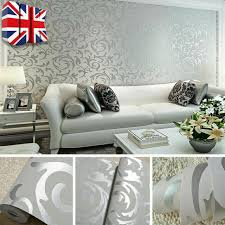 teal silver 3d embossed damask pattern