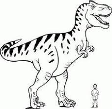Tyrannosaurus Rex Bilder Zum Ausdrucken Colorare Line Gratis Lusso