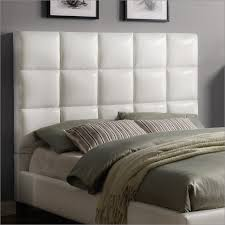 white leather headboard. Contemporary Headboard Homelegance Fenton Headboard In White Faux Leather To V
