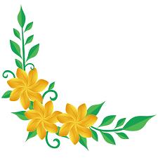 yellow flower corner png image tr
