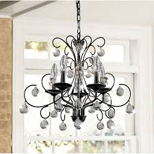 messina i 5 light wrought iron and crystal chandelier black 23 w x 20 h xtkb713bw329x