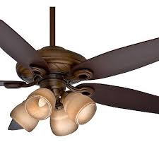 52 casablanca acadia ceiling fan four light fitter w toffee glass