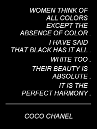 Black And White Quotes Interesting Coco Chanel Black And White Color Quote Modernist White