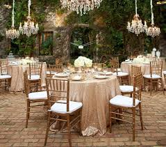 custom size sparkly sequin table cloth garden wedding party wedding decorations round square champagne gold silver sequins cake table cloth