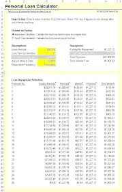 Pay Loan Calculator Free Car Loan Amortization Schedule Template Payment Lease