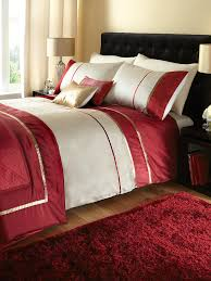 33 cool red and cream duvet cover just contempo luxury