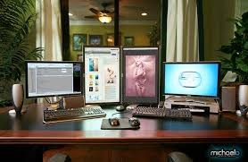 image cool home office. Plain Image 19 4 Dell Monitors U2013 2 Workstations In Image Cool Home Office