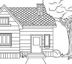Kids Coloring House Free Printable House Coloring Pages For Kids