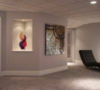 wall niche lighting. art niche ideas basement contemporary with exercise room wall lighting