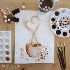hot chocolate painting. Wonderful Painting Painting With Hot Chocolate Was Similar To Painting Watercolor Except  That Cocoa Is Much More Delicious The Final Result Looked Gorgeous  Throughout Hot Chocolate