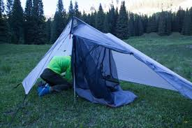 we tested the haven tarp along with the haven net tent insert that can be set