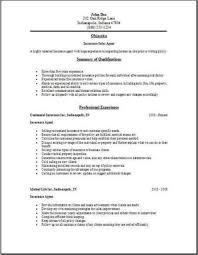 Insurance Agent Resume Occupational Examples Samples Free