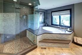 master bathroom floor plans corner tub. On Suite Master Bathroom The Corner Niche Houses A Lengthy Soaking Tub With Large Window And Floor Plans