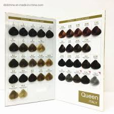 Salon Professional Hair Dye Colours Chart For Hair Swatch Book
