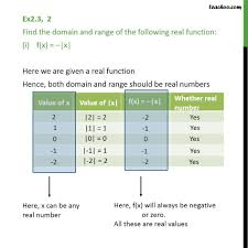 Range And Domain Ex 2 3 2 Find Domain And Range I F X X Chapter 2