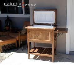 wooden cooler chest