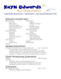 d animator resume sample samples option cover letter cover letter d animator resume sample samples optionanimator job description