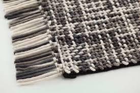 Tappeto Tessuto A Mano : Tappeto moderno a tinta unita in lana rettangolare lama