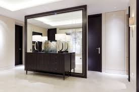 hall entrance furniture. entrance hall furniture ideas using retro sideboard cabinet below contemporary table lamps against mirrored room divider