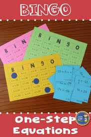 one step equations bingo provide your students with some engaging practice with solving one