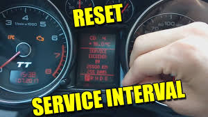 Audi Tt Reset Service Light 2007 2013 Audi Tt Oil Change Service Interval Light Reset