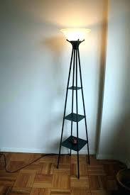 Corner Floor Lamp With Shelves Beauteous Wood Floor Lamp With Shelves Floor Lamp Shelf Corner With Pyramid