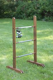 the completed diy ladder golf game