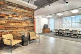 creative office ceiling. Classy Office Design With Glass Door And Oak Wooden Wall Also Comfy Cream Armchair White Ceiling Light Idea Creative
