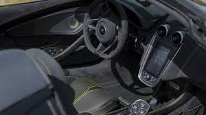 2018 mclaren interior. delighful interior 2018 mclaren 570s spider sicilian yellow interior inside mclaren interior
