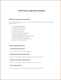 Employee Appraisal Form Sales Performance Evaluation Template For Review Appraisal