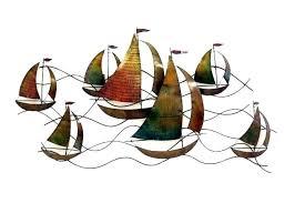 preferred sailboat metal wall art regarding boat marine nautical sailing life sailboa