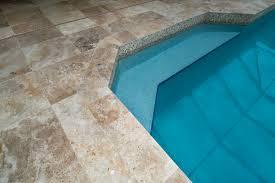 travertine stone pool deck
