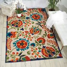 nourison aloha alh17 multicolor indoor outdoor area rug 5 feet 3 inches by 7