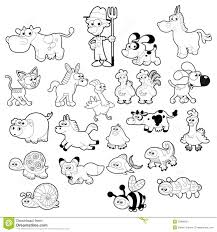 cute animals clipart black and white. Beautiful White For Cute Animals Clipart Black And White M