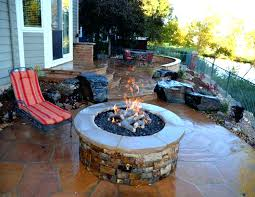 crushed glass fire pit brilliant pits how do they work table