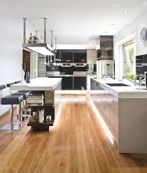 White Kitchen With Hardwood Floors Engaging Large Space Kitchen Design Ideas Show Harmonious White