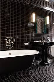 Parisian Black Bathtub With Gothic Influence