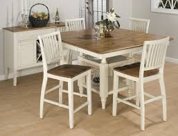 Dining Room Table And Chairs White Dining Room Set And Square Varnished Walnut Topped Dining Table