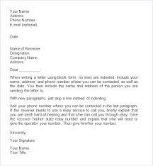 Business Letter Format Sample Doc Form Template Of Intent For