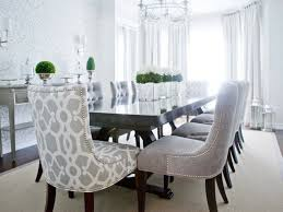 dark grey tufted dining chairs