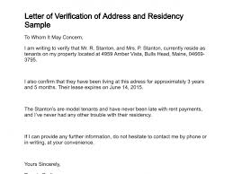 Best Photos Of Letter Confirming Residence Sample Proof Of