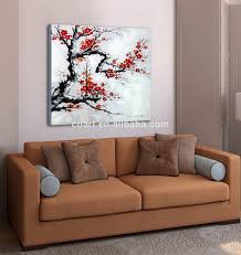 modern canvas flower white black red painting  buy wall art