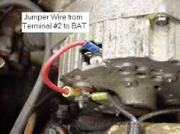 onewirealternator another method is to connect a jumper wire from the sensing terminal 2 to the bat terminal