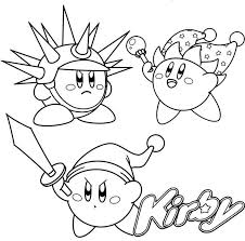 Kirby coloring pages for kids and parents, free printable and online coloring of kirby pictures. Sword Beam And Needle Kirby Coloring Page Mermaid Coloring Pages Bear Coloring Pages Coloring Books