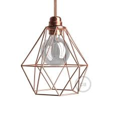 light bulb cage lampshade diamond copper finished metal e27 fitting