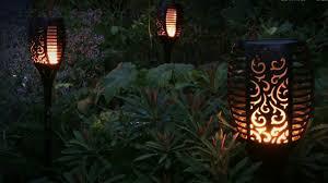 Solarlamp Fakkel Zwart Met Schemersensor
