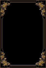 black and gold frame png. Modren Png Rose Frame01a By OokamiKasumi  On Black And Gold Frame Png O