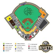 Frontier Park Seating Chart Ballpark Rockford Rivets Rockford Rivets