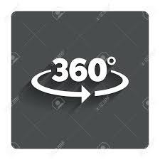 角度 360 度記号アイコン